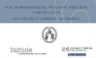 Image of the cover of the video;El rector de la Universitat de València presideix l'acte d'obertura del curs de UniSocietat 2016/2017