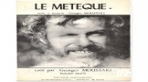 "LE MÉTÈQUE, ""GEORGES MOUSTAKI"""