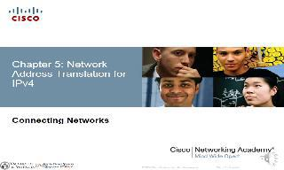 Chapter 5 (Network Address Translation for IPv4)