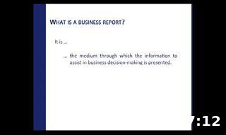 How to write business reports