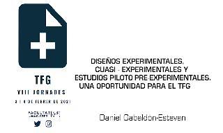 DISEÑOS EXPERIMENTALES, CUASI... TFG