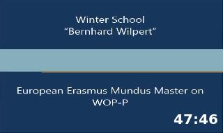 VII Edition of the Winter School Bernhard Wilpert European Erasmus Munudus Master on WOP