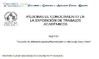 10) Insertar Vídeos, Imágenes e Hipervínculos (Inmaculada Aparicio Aparicio)
