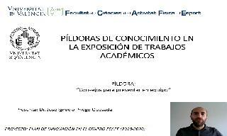 20) Consejos para presentar en equipo (José Ignacio Priego Quesada)