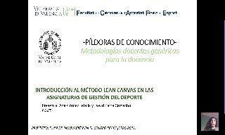 10) Introducción al método Lean Canvas en las asignaturas de Gestión del Deporte (Ana Gómez Tafalla/David Parra Camacho)