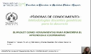 12) El Padlet como herramienta para fomentar el aprendizaje cooperativo (María Huertas González Serrano/Ferrán Calabuig Moreno)