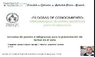 15) Jornadas de posters e infogramas para la presentación de tareas en el aula (Paloma Escamilla Fajardo/José Juan Crespo Hervás)