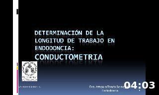 Determinación de la longitud d etrabajo en endodoncia