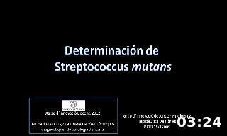 Determinación de  Streptococcus mutans