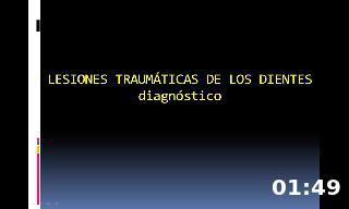 Diagnóstico en traumnatología dental