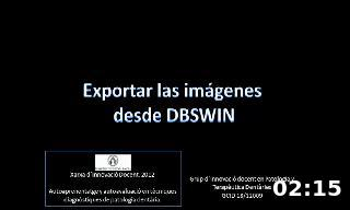 Exportar las imágenes  desde DBSWIN