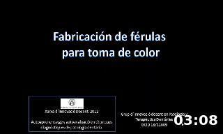 Fabricación de férulas  para toma de color