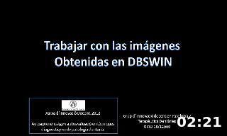 Trabajar con las imágenes  Obtenidas en DBSWIN