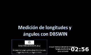 Medición de longitudes y  ángulos con DBSWIN