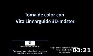 Toma de color con  Vita Linearguide 3D-máster