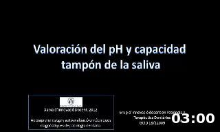Valoración del pH y capacidad tampón de la saliva