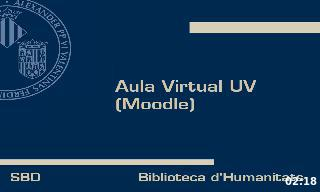 Breu introducció a l'Aula Virtual UV (Moodle)